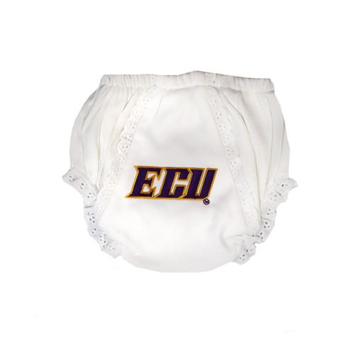 White Eyelet ECU Diaper Cover