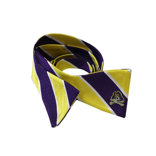 Purple and Gold Thick Stripe Bowtie
