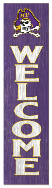 Purple ECU Welcome Sign
