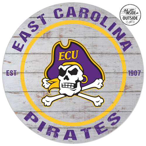 White Wooden ECU Jolly Roger Sign