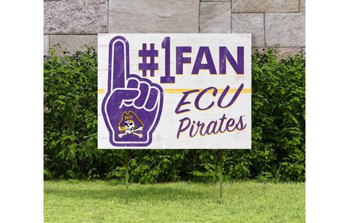 Number One Fan ECU Yard Sign