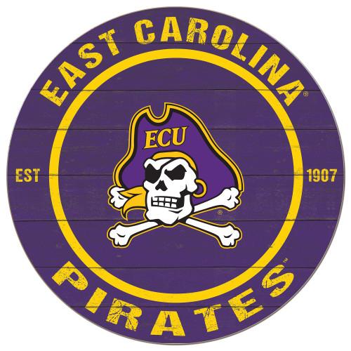 Purple ECU Jolly Roger Sign