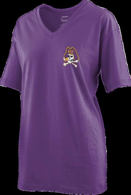 Purple Curly Viper V-Neck