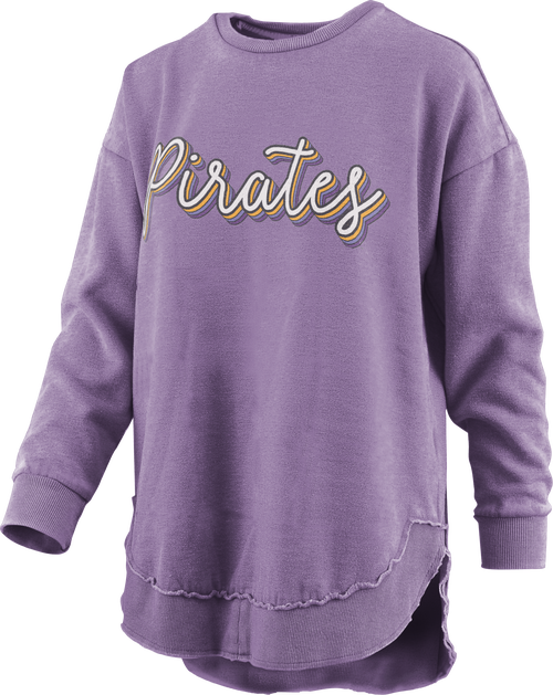 Purple Vintage Pirates Poncho Crew
