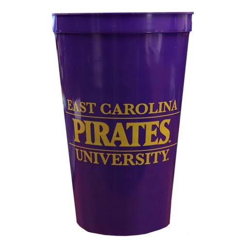 22 oz ECU Pirates Stadium Cup Purple