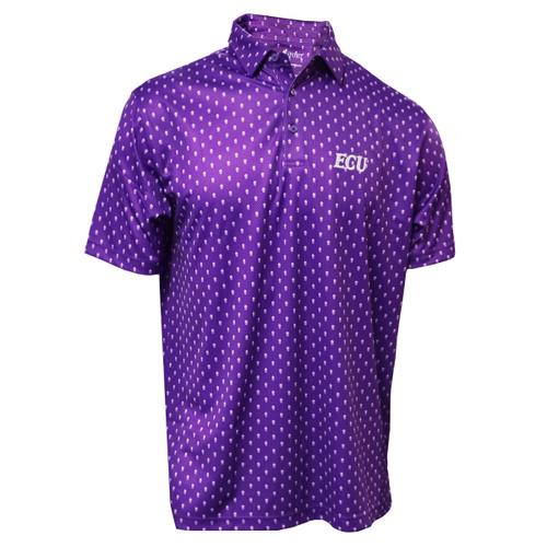 Purple Skull Pattern ECU Polo