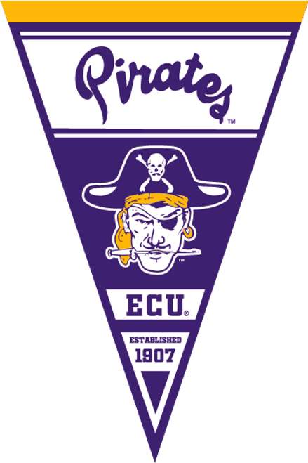 "20"" x 30"" 1907 ECU Pirates Pennant"