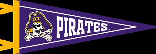 "Purple 9"" x 24"" Jolly Roger Pennant"
