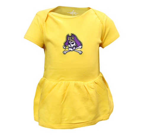Gold Infant Dress with Jolly Roger