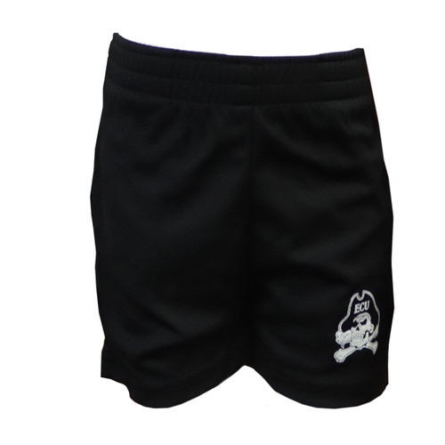 Black Infant Shorts With Jolly Roger