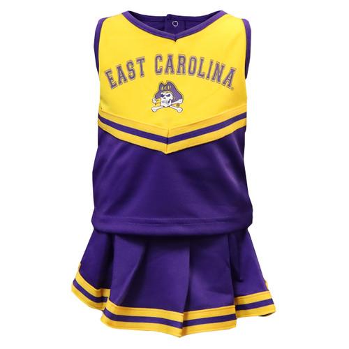 Two Piece East Carolina Jolly Roger Cheer Dress Toddler
