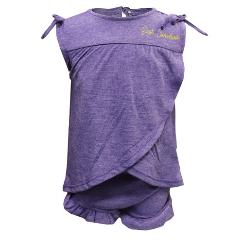 Purple Jolly Roger Toddler Dress and Bloomers
