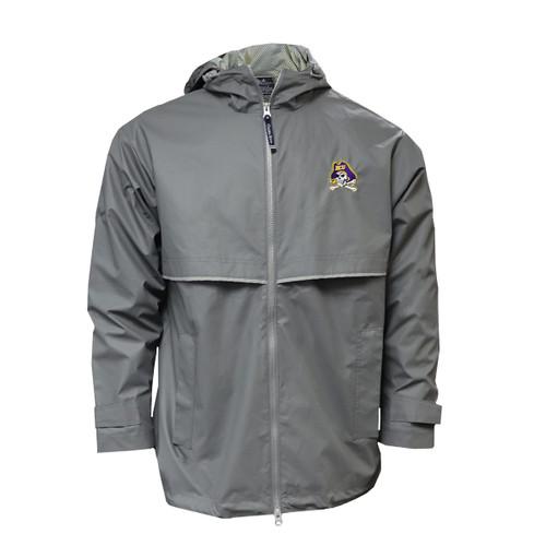Gray Jolly Roger Unisex Raincoat