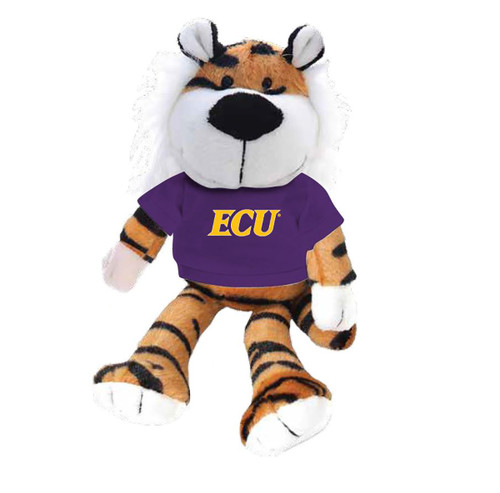 Plush Tiger with Purple ECU Tee