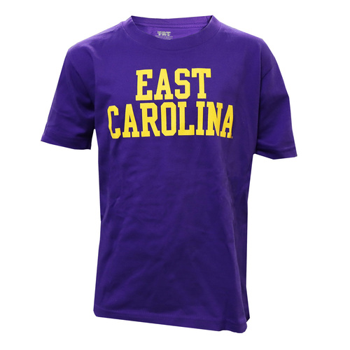 Purple East Carolina Stack Youth Tee