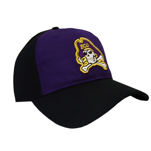 Purple and Black Under Armour Cap With Jolly Roger