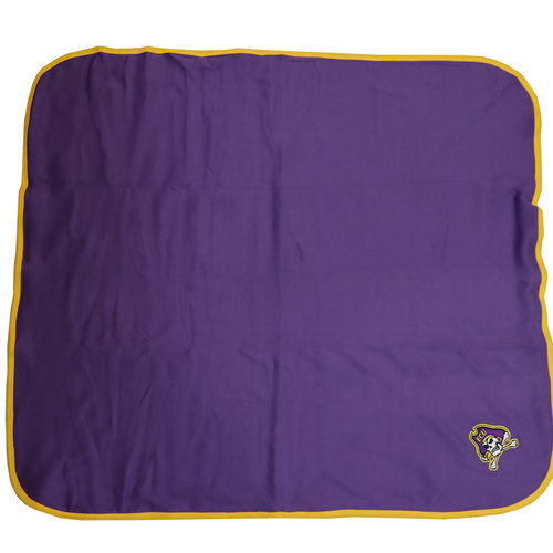 Purple and Gold Blanket With Jolly Roger