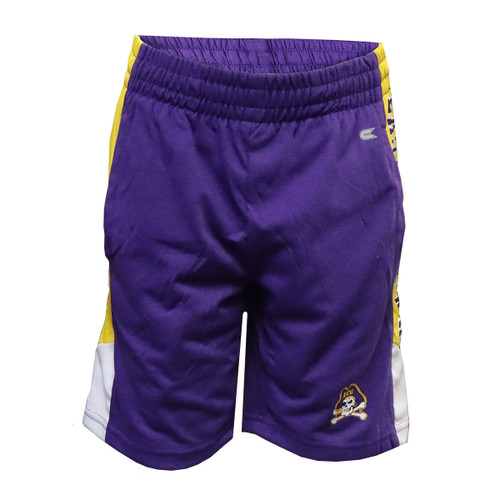 Purple, White and Gold Youth Shorts
