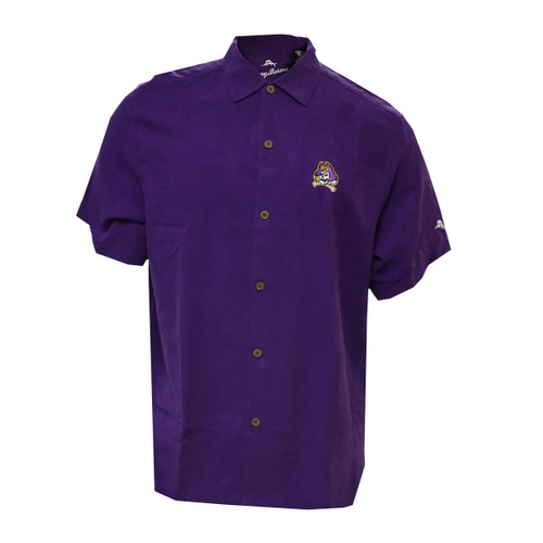 Purple Jolly Roger Tommy Bahama Button Up