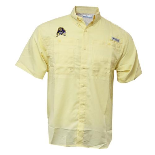 Yellow Jolly Roger Tamiami Fishing Shirt