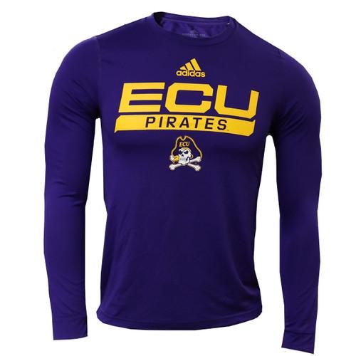 Purple Adidas East Carolina Long Sleeve