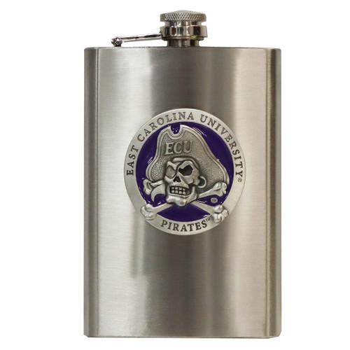 Stainless ECU Purple Jolly Roger Flask
