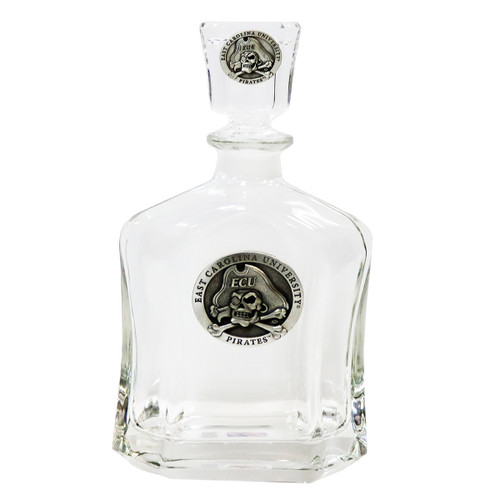 Decanter with Pewter Jolly Roger