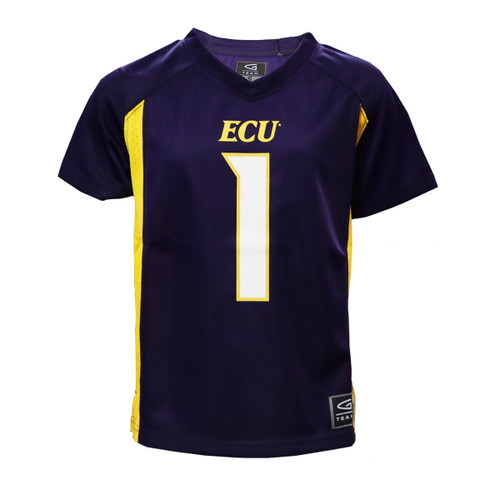 Purple and Gold Youth #1 ECU Jersey