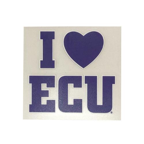 I Love ECU Heart Decal