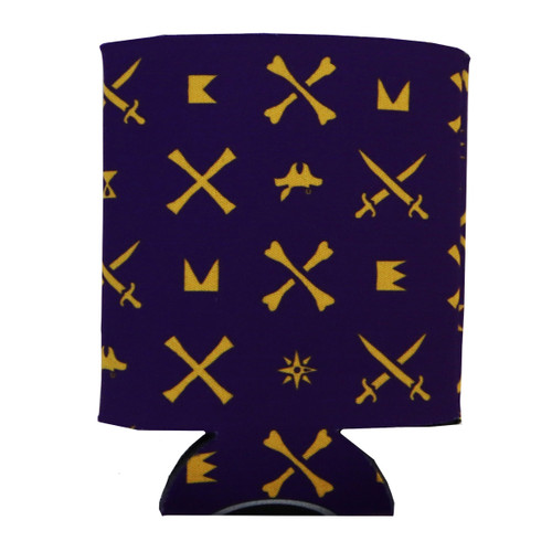 Purple Icon Patter Can Koozie