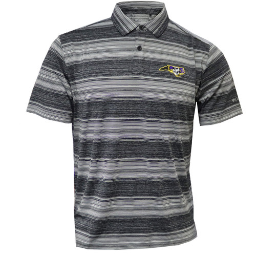 Gray and Black Pirate State of Mind Jolly Roger Polo