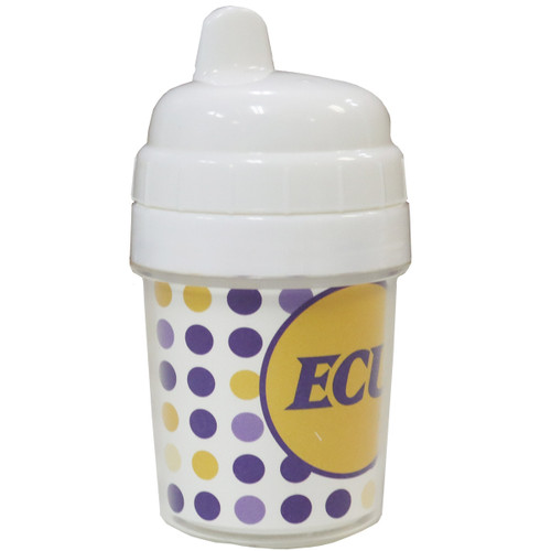 Purple and Gold Polka Dot ECU 10 oz. Sippy Cup