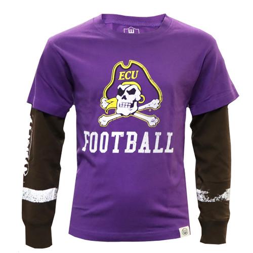 Youth Jolly Roger Football Long Sleeve Tee