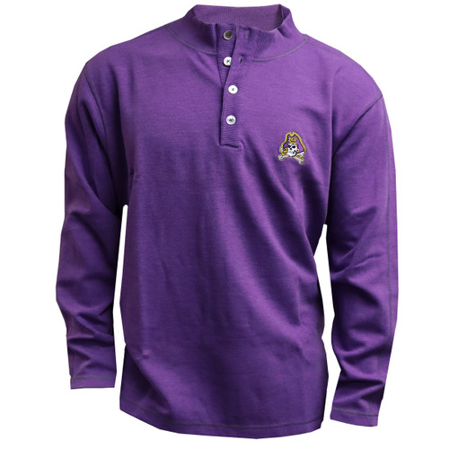 Purple Jolly Roger 1/4 Button Up Pullover