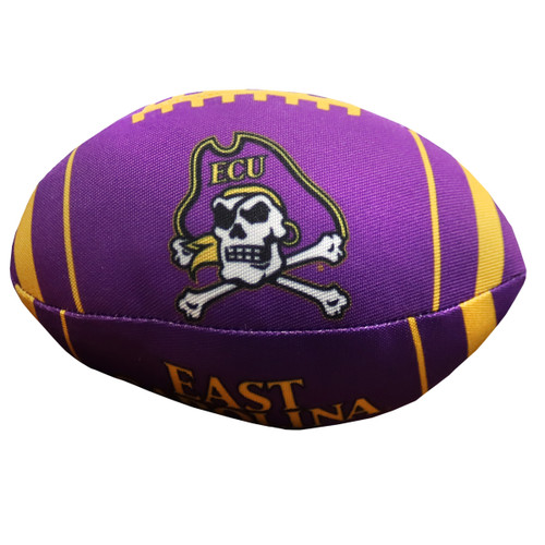 Purple and Gold Football Dog Toy