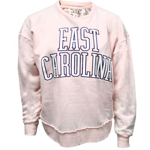 Pink East Carolina Fleece Crew