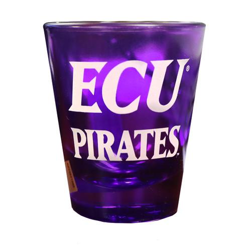 Purple ECU Slant Shot Glass