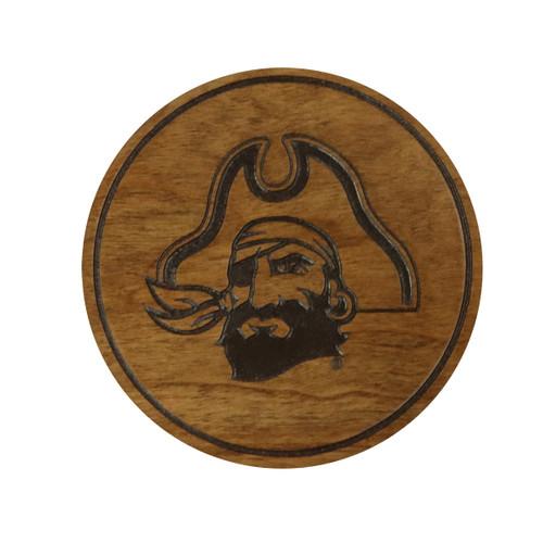 4 Pack ECU Pirate Head Cherry Coaster