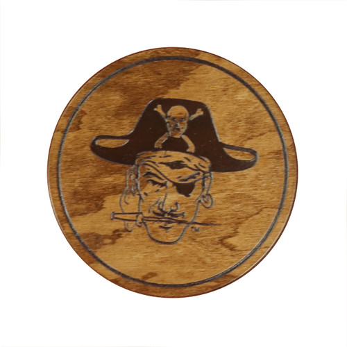 4 Pack Pirate Head Sabre Cherry Coasters