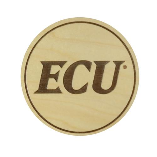 4 Pack ECU Maple Coasters