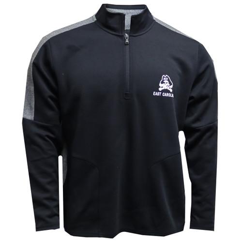 Black Jolly Roger Quarter Zip Under Armour Pullover