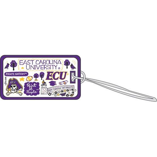 ECU Landmarks Luggage Tag