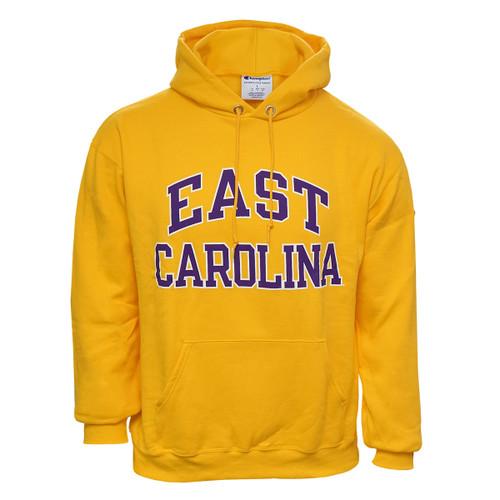 Gold East Carolina Arch Hoodie