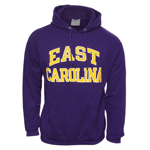 Purple East Carolina Arch Hoodie