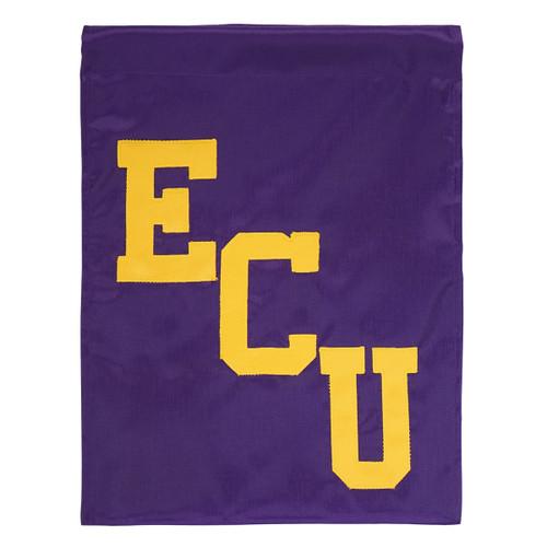 Purple Twill ECU Garden Flag