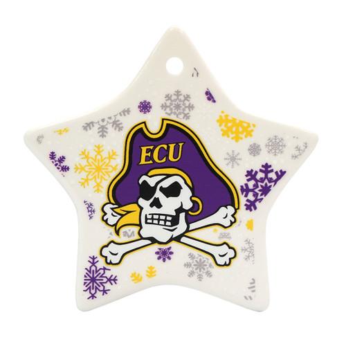 Ceramic Jolly Roger Star Ornament