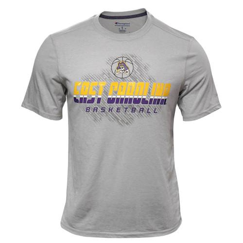 Grey East Carolina Basketball Gel Ink Tee