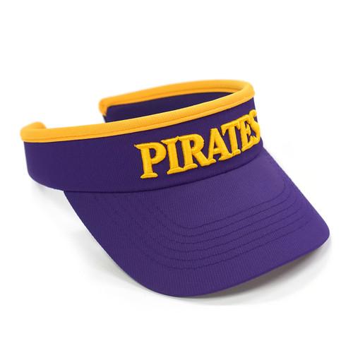 Ladies Purple Structured Pirates Visor