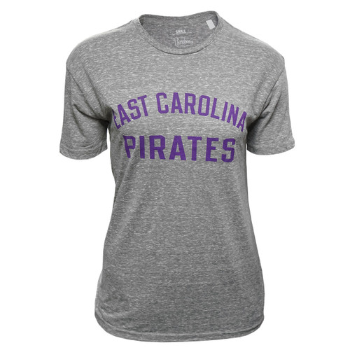 Grey Ladies Vintage East Carolina Arch Tee
