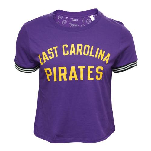 Purple Pirates Cuffed Crop Top